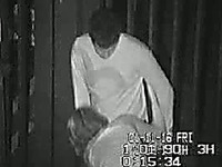 Lucky dude gets a blowjob in the dark alley over the night club