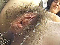 My mature pale skin wife has a hairiest pussy in the world