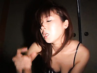 Cute Japanese exchange student girl blows me and gets mouthful
