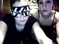 Two whorish babes play with their cunnies on webcam