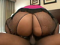 Busty and incredibly fat black hooker gets banged in sideways style