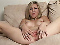 She demonstrates how she masturbates and makes herself reach orgasm