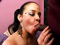 Cum loving Indian brunette girl gives amazing blowjob