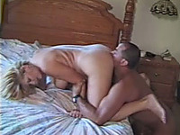 Hot blonde babe gets her pussy bnaged hard from behind