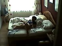 Wife's mom caught masturbating in her bedroom on hidden cam