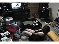 Slutty mature woman masturbating while watching porn
