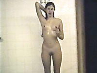 My spy video from girls dorm shower room - three naked beauties