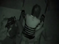 Spying on horny couple having public sex in the midde of the night