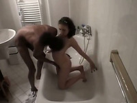 White wife caught on hidden cam sucking and fucking a black guy