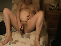 Fat and mature white cougar wife and her two headed sex toy