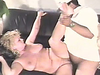 I let my mature blonde wife suck and fuck another guy on the couch
