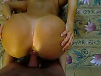 Sporty chick with magnificently sculpted ass loves anal sex