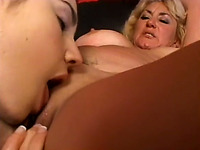 Two amateur lesbians enjoy licking each other's vaginas
