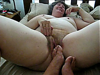 Stinky hairy big pussy of my mature BBW amateur cougar