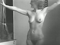Way too kinky babe gets stripped in black and white video