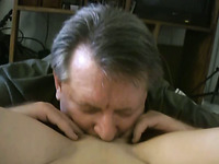 Hot blonde bitch fucks a horny older man with great passion