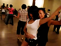 My lustful lesbian GF is really good at dancing salsa