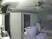 My lewd wife gets caught masturbating on my hidden cam