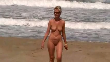 Something is. Wife naked beach with