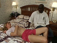 Married woman lets her new black friend fuck her hard in her bedroom