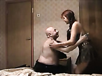 Caught my grandma fucking young redhead prostitute - hidden cam