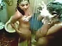 Hidden camera in female's shower room filmed some naked hotties