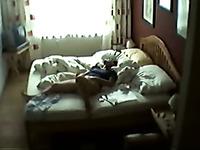 Neighbor's housewife masturbates in bed on hidden cam