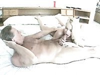 Extra beautiful blonde wife passionately sucks my 4 inch cock