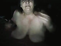 Mature and chubby brunette lady is busty and playful