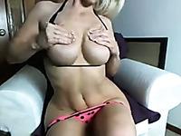 My curvy GF enjoys showing off her big luscious tits