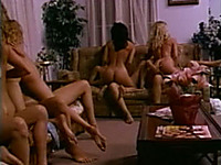 This huge lesbian orgy will make you cum in no time