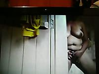 Hidden cam in the bathroom caught my wife masturbating