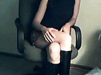 Petite teen webcam babe masturbating on the webcam video