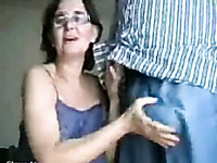A freaky neighbor mature woman getting fisted in the ass