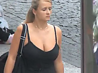 The best amateur compilation of busty girls walking on the street