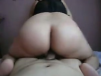 Latina blonde milf babe rides my pecker in reverse cowgirl style