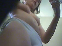 Petite blondie in the pool changing room caught on hidden cam