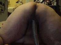 Watched really horny amateur BBW granny masturbating