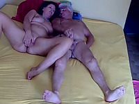 Old couple masturbating in their bedroom all naked