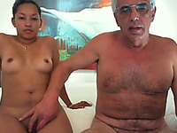 Hot Asian milf wife and I on webcam ready to tease you