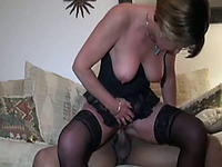 My milf wife eagerly lets this black guy gape her asshole
