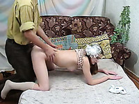 Sizzling hot sex session with a brunette Russian girl
