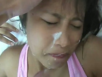Asian bitch gets fucked and facialed in a hardcore sex scene