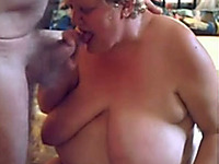 Mature whore with saggy tits knows how to give a good blowjob