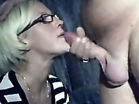 German girlfriend is shy but she is good at cock sucking