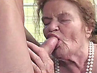 72 years old grandma of my wife gives me a gumjob and gets fucked
