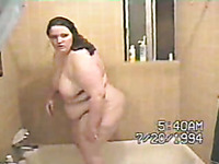My fat mature woman out of the shower and in the bedroom