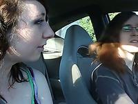 Luscious amateur brunette teen sucks her BF's dick in POV clip