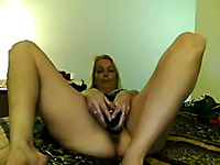 I watching my wifey masturbate in our cozy bedroom