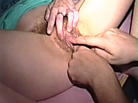 Cute sweetheart with really hairy cunt lets me finger her
